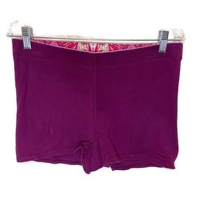 Pink women's yoga shorts purple medium